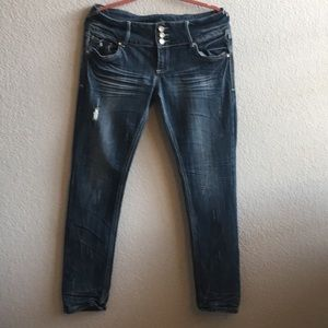 Almost Famous Distressed Skinny Jean size 13